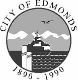 Edmonds BW logo