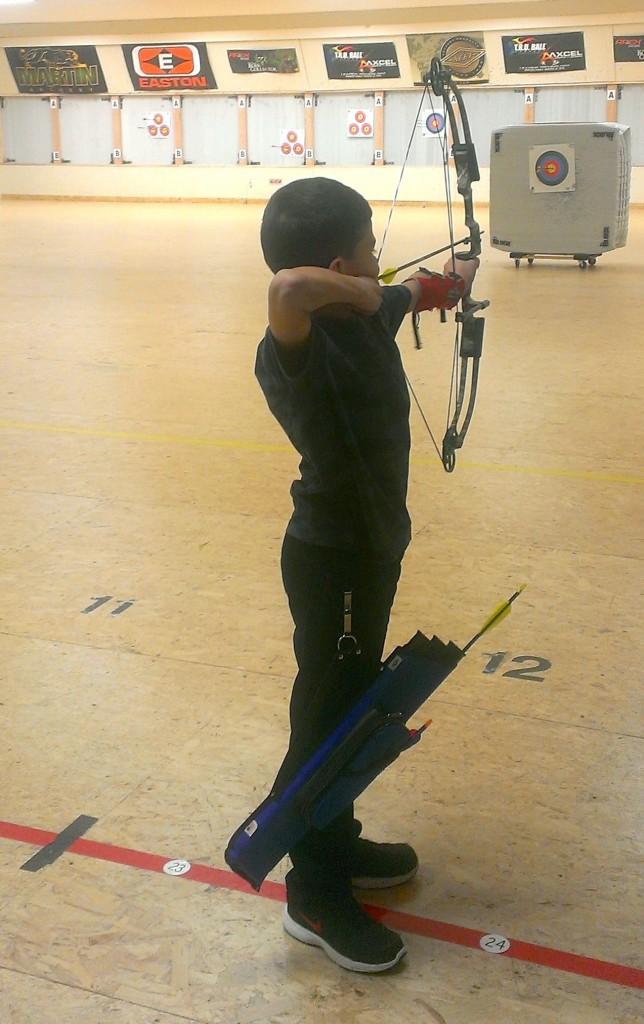 Raymond practicing