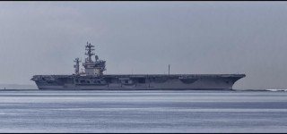 Scene in Edmonds: USS Nimitz on its way home
