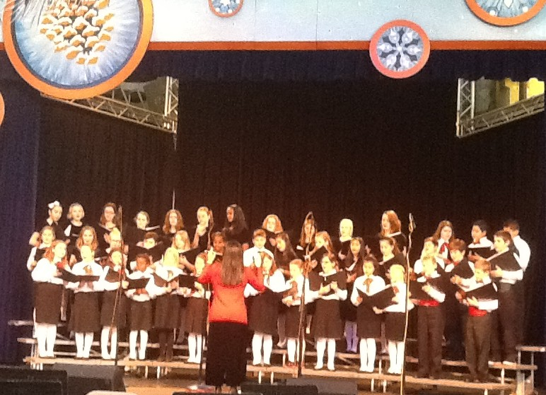 Sent from a parent, the Edmonds-based Holy Rosary School Honor Choir performed at the Center House at Seattle Center Monday as part of Winterfest celebrations.
