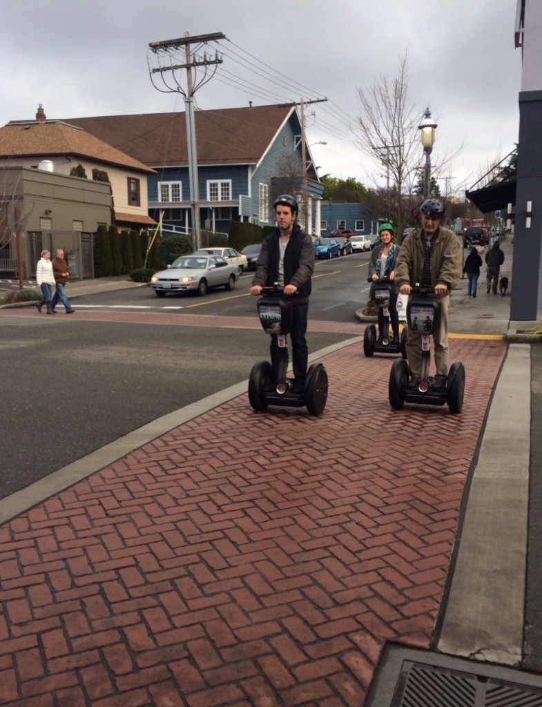 From David Carlos, a Segway tour in downtown Edmonds Saturday.