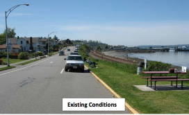 The existing Sunset Avenue walking path.