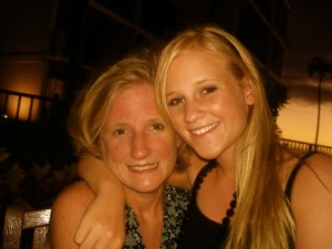 Laura Shanks with her mother Maggie.