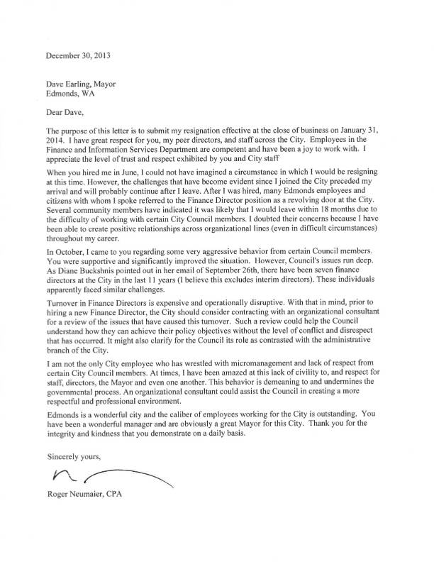 Resignation Letter Lack Of Support