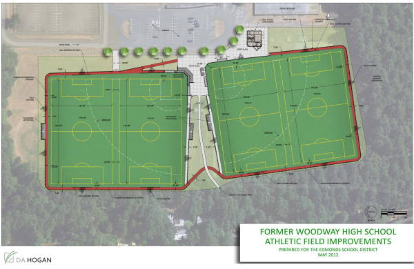 Woodway HS athletic field schematic