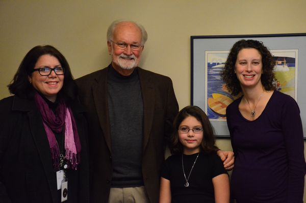 It was all smiles after Mayor Dave Earling's meeting with Westgate Elementary third-grader Aimee Cusimano. With the two are Aimee's mother Jina Cusimano, left, and her teacher Lisa Hamilton.