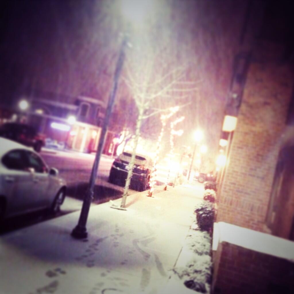 From Ryan Lonac of RWL Design, snow on 5th Avenue in downtown Edmonds.