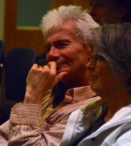 Former Councilmember Steve Bernheim watches the voting unfold.