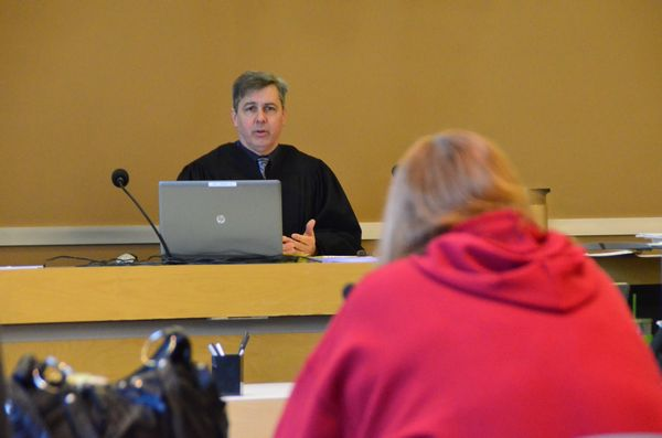 Edmonds Municipal Court Judge Douglas Fair sentences Rose Adams to serve 16 days in jail, pay $630 in fines, and not possess domestic animals for two years.
