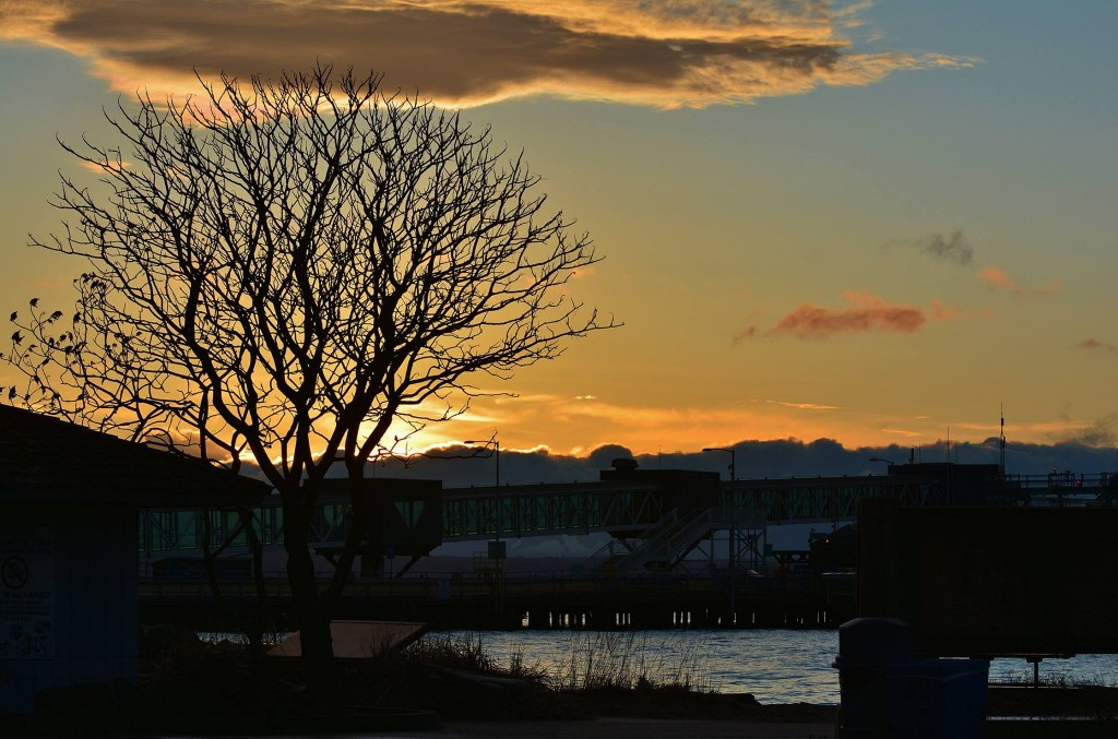 From Dan Palmer, Monday's sunset taken at the Edmonds Dive Park.