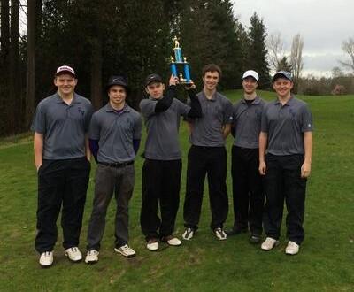 Edmonds-Woodway High School's boys golf team won the Edmonds School District tourney at Nile Golf Course Friday.  Players from left: Tony Tilt, Drew Gradwohl, Marcus Lynch, Dylan Merrill, Ben Arrants and EJ Tilt.
