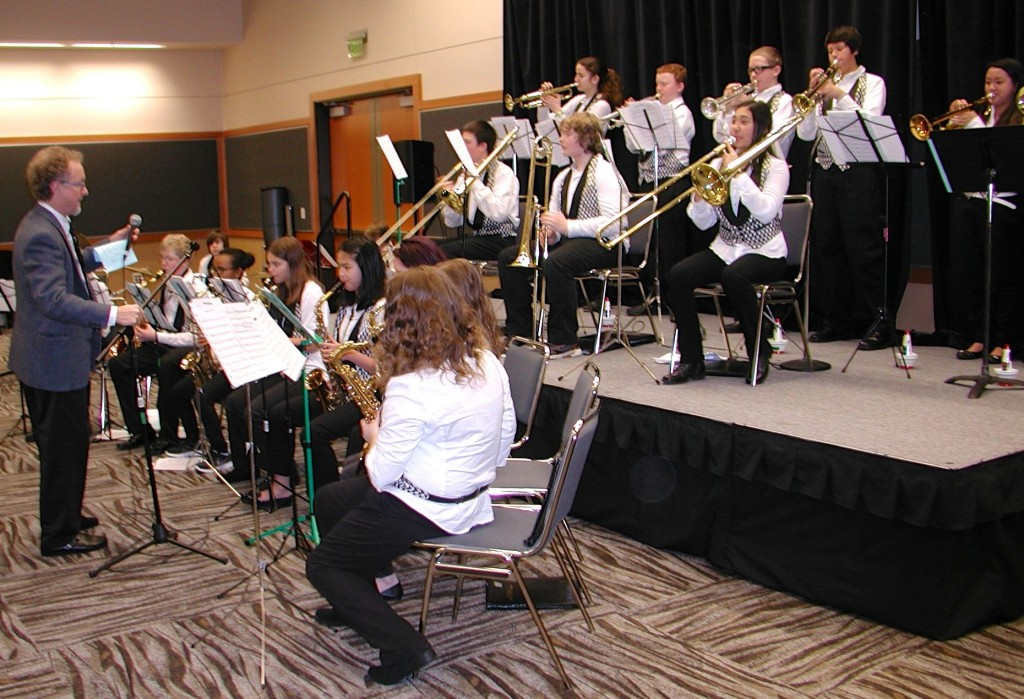The Meadowdale Middle School Jazz Band provided music for the breakfast.