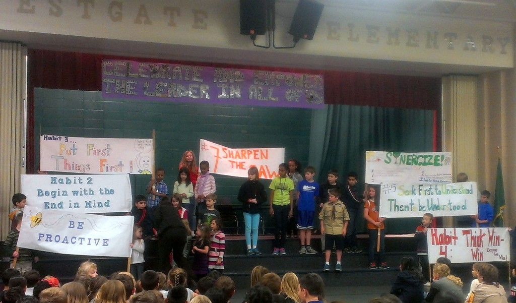 """The """"7 Habits"""" presentation by Westgate students."""