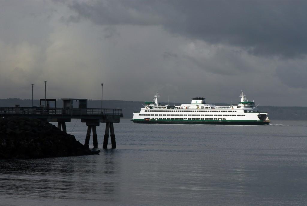 From Ken Sjodin, the Edmonds-Kingston ferry during a sun break earlier this week.