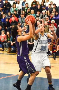 Maddy Nealey looks for a shot.