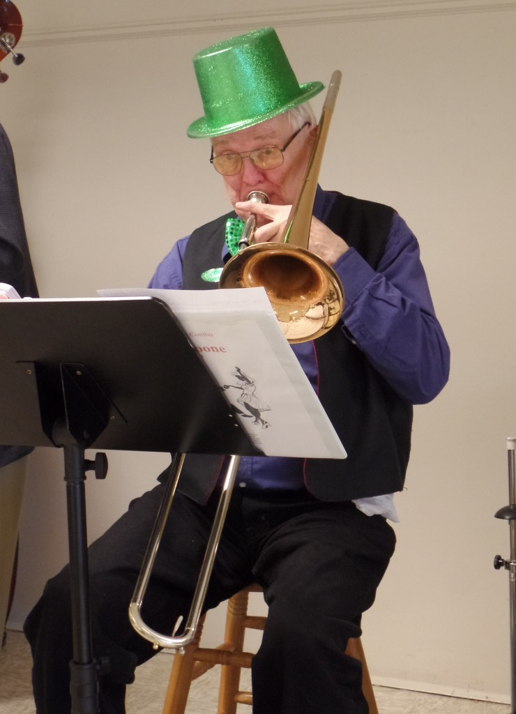 Ron Hannon, playing for Astoria band, provides some Irish tunes.