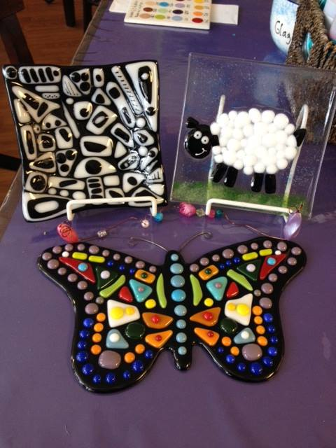 Projects that can be made at Glass Camp. (Photo courtesy Glazed and Amazed)