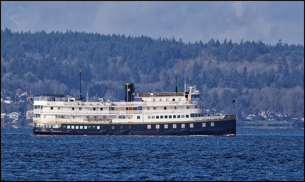 LeRoy Van Hee captured this photo of the S.S. Legacy, a passenger ship undergoing a sea trial according to this website.
