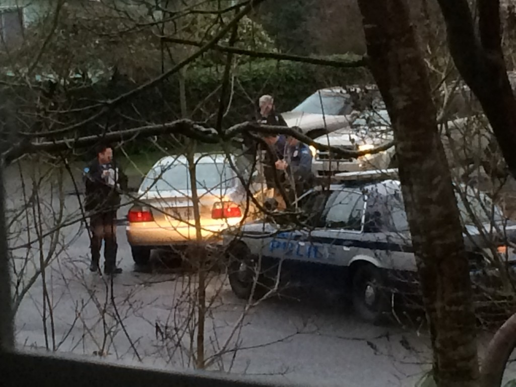 This photo shows the actual vehicle involved in Monday's incident.