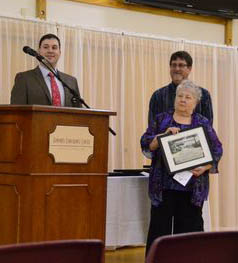 The first award went to Darlene McLellan, president of the Edmonds Arts  Festival Foundation in recognition of her more than quarter century of generous volunteer service to the Edmonds arts community.