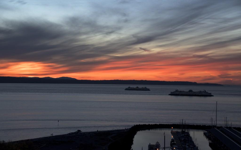 From Julia Wiese, Wednesday's stunning sunset.