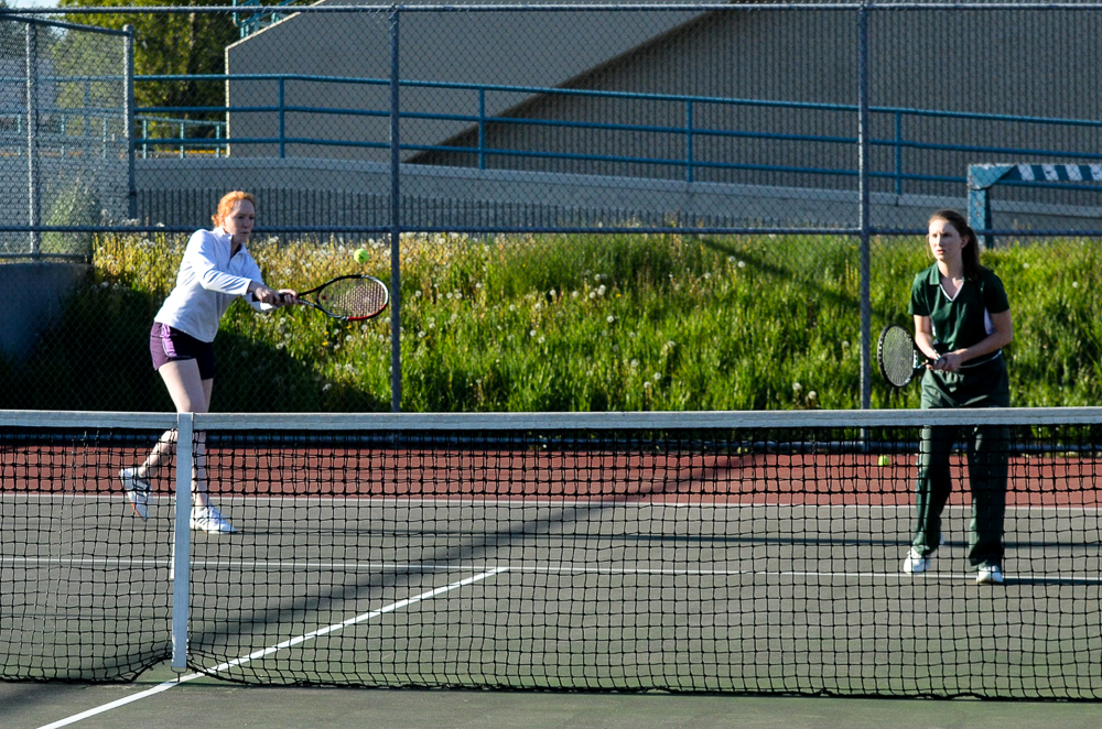 Claire Olson-Katherine Wilson at No. xx doubles.