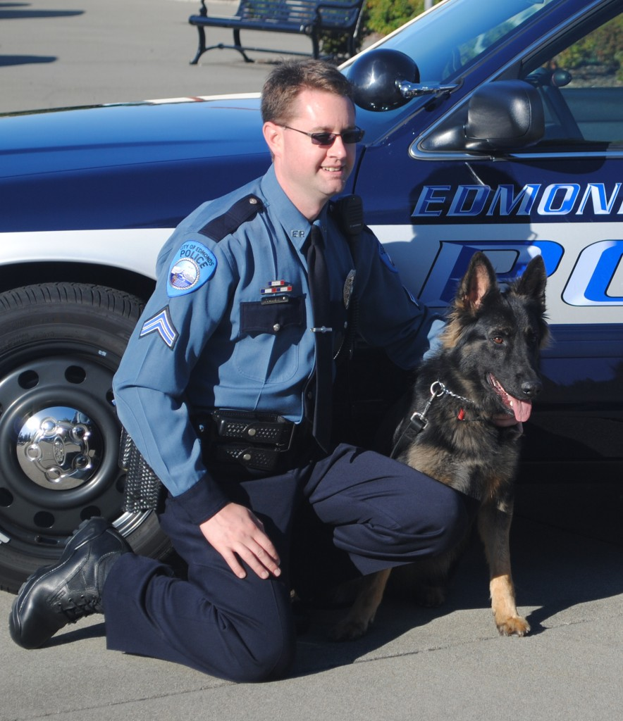 Kira with her handler, Corporal Shane Hawley.