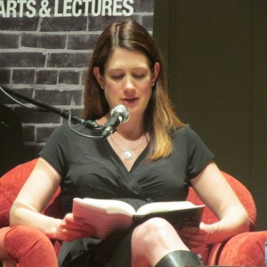 Gillian Flynn reading from her book last week. (Photo by Wendy Kendall)