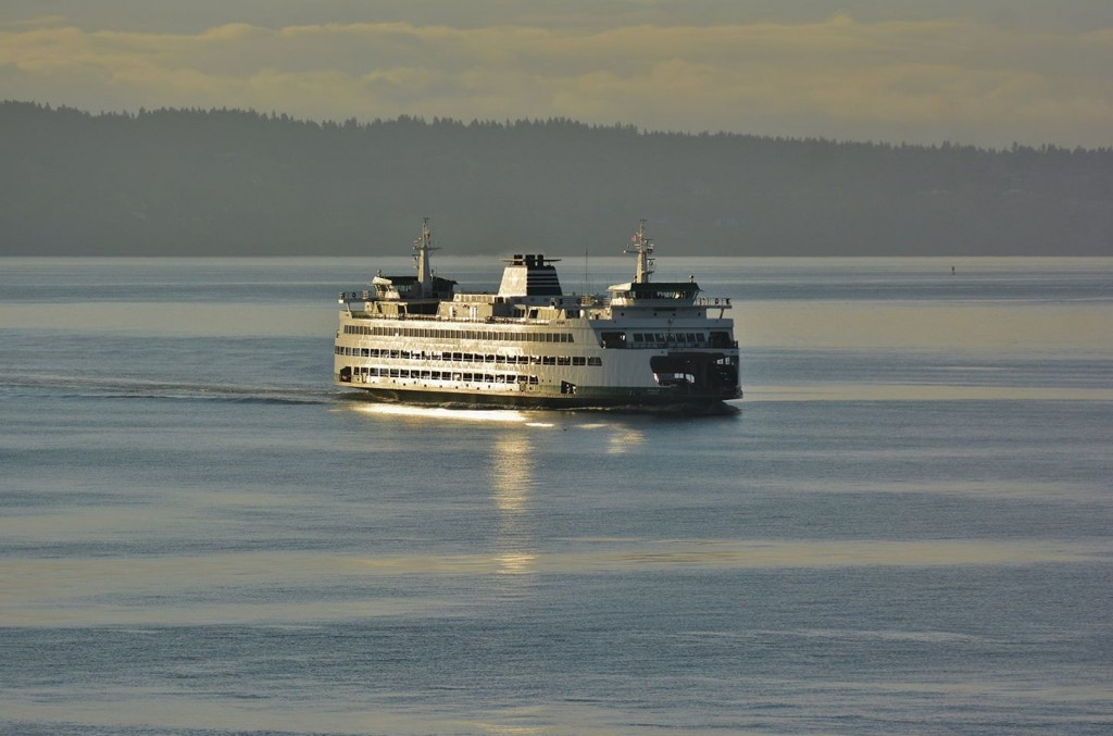 From Dan Palmer, who captured Saturday's sunrise and its reflection on a passing ferry.