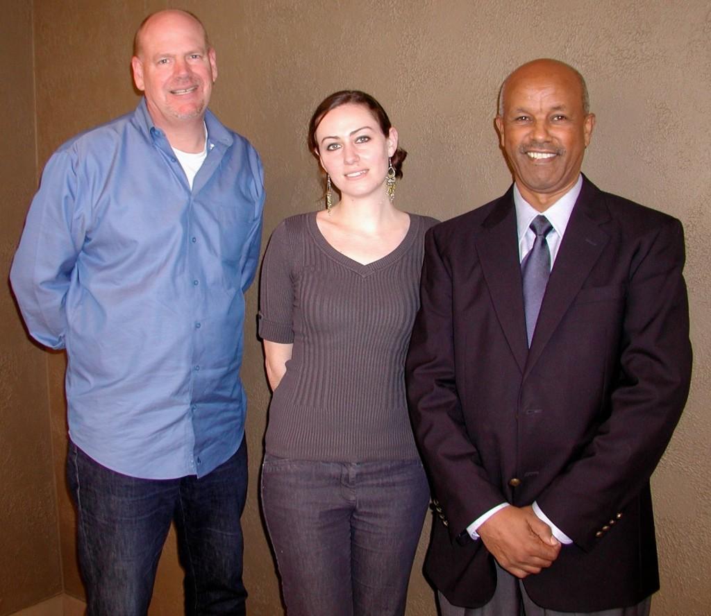 Principals of the Branding Iron: Peter Wilson, Lillyann Hendershot and Mesfin Mengesha.