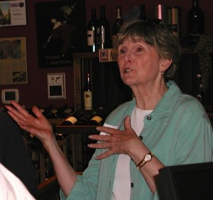 Outgoing 21st District Rep. Mary Helen Roberts showed up to endorse Peterson.