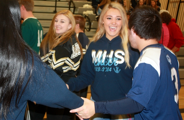 New friends were made during Special Olympics Project Unify rally.