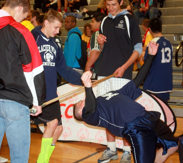 One of the activities was a limbo contest.