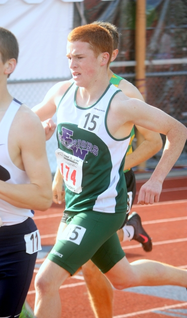 Edmonds-Woodway's Miler Haller finished 15th in the 1,600-meter race at the 4A State Track and Field Championships Thursday at Mount Tahoma Stadium in Tacoma.  (Photos by David Pan)