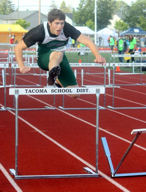 Edmonds-Woodway's Justin Gunn took eighth in his preliminary heat of the 110-meter high hurdles.