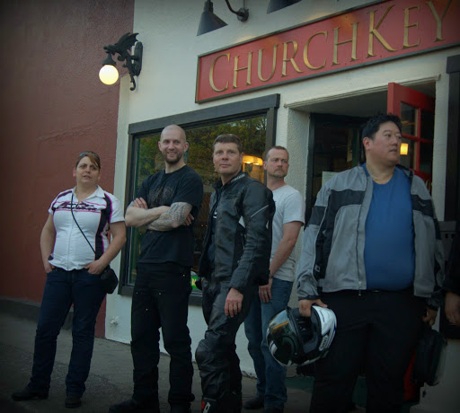 From David Carlos: This gathering of motorcycle enthusiasts happens the first Thursday of each month at the Church Key Pub in downtown Edmonds. Triumph of Seattle in Lynnwood organizes the event, showcasing Triumphs but welcoming any and all motorcycles and scooters of every make and model.