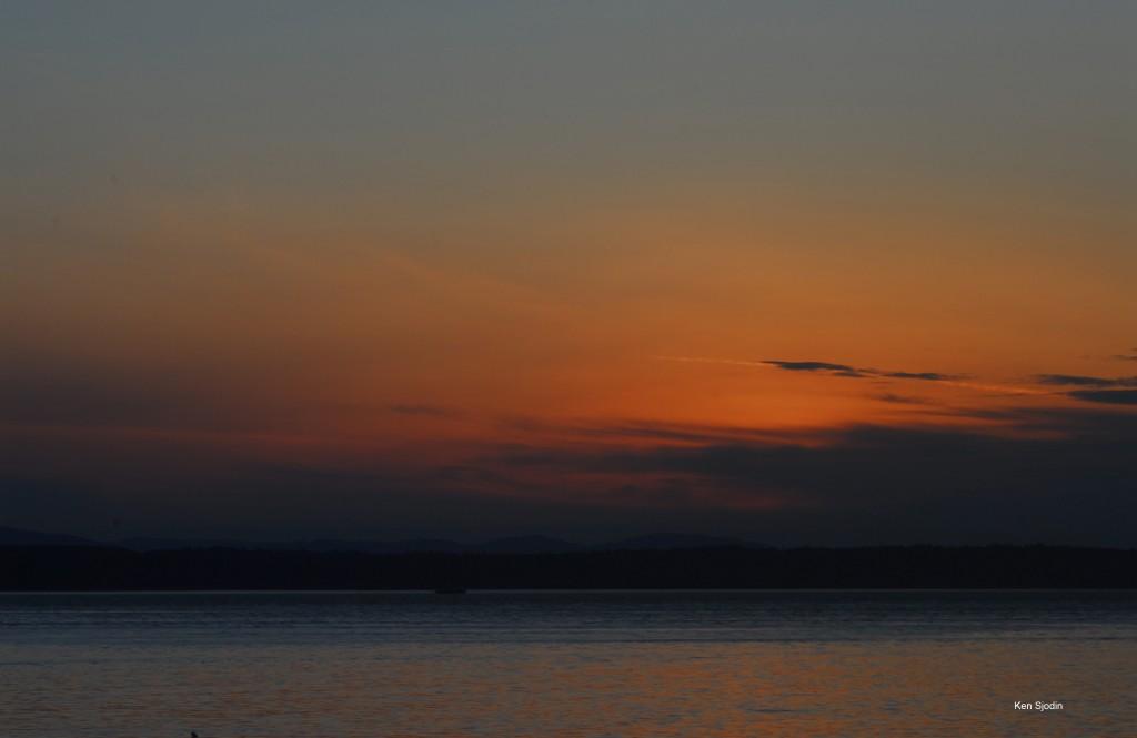Ken Sjodin captured the sunset from Sunset Avenue Monday night.