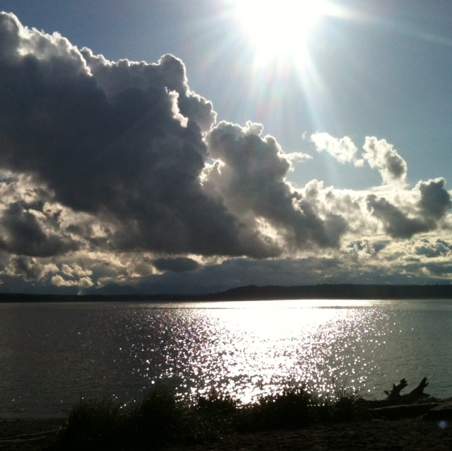 From Vivian Murray, Monday night's view from the Edmonds off-leash dog park during a brief respite from the rain.