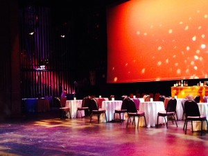 The ECA stage as a bistro.