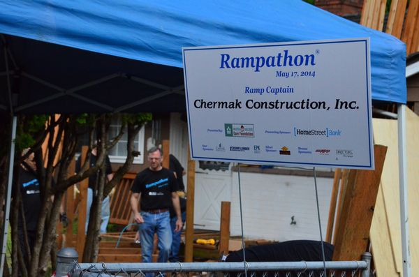 The annual Rampthon is sponsored by an array of local businesses that contribute time, skill and materials to build an handicap-accessible ramp on the home of a person who could not otherwise afford it.