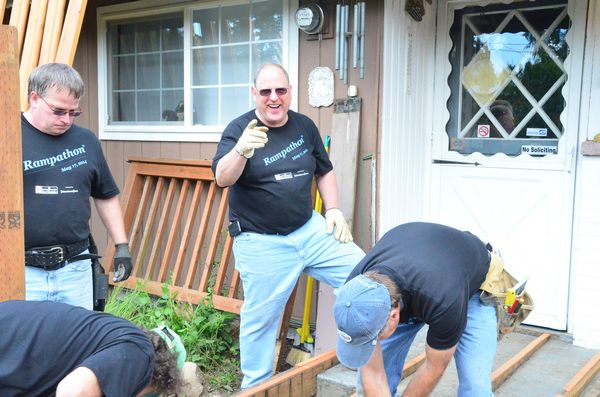"Company owner Howard Chermak even got into the act, getting down and dirty with the other workers. ""This is a wonderful and important event,"" he said. ""We love Edmonds and love to give back to this great community."""