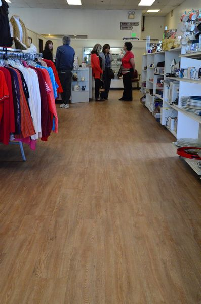 """Interior improvements include new flooring, and new checkout counter, and reconfigured shelving and aisles.  """"The new layout is much more customer-friendly,"""" said store manager Barbara Halseth."""