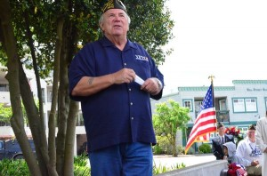 """Ron Clyborne headed up the committee that planned, designed and raised funds for the Edmonds Veterans Memorial. """"It's about remembering,"""" he said. """"We will always remember the men and women -- past, present and future -- who serve in our armed forces."""""""