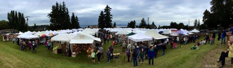From David Carlos, a panoramic view of Saturday's Edmonds Arts Festival.