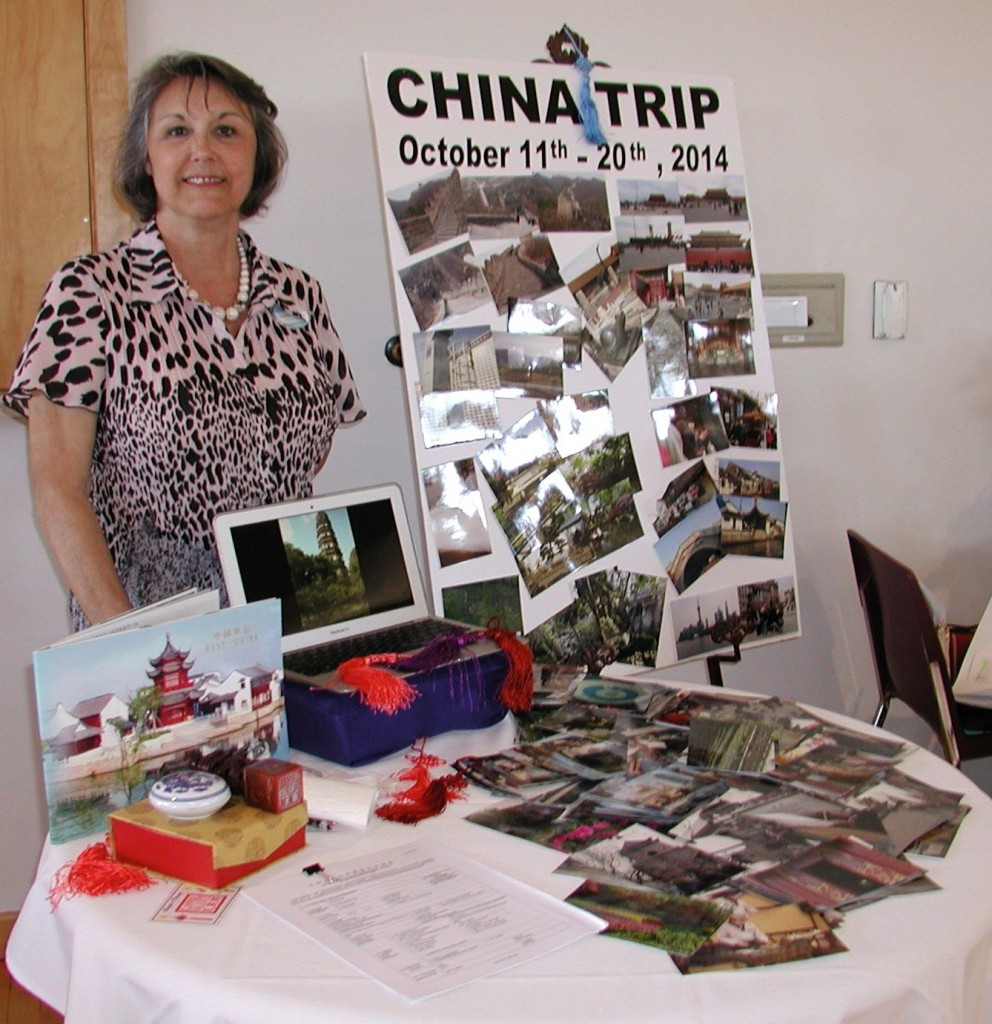 Valeria Claypool, Edmonds Chamber membership and events director, reminded expo goers of the chamber's planned trip to China this fall. You can read more information here but if you are interested, be sure to call her as soon as possible.