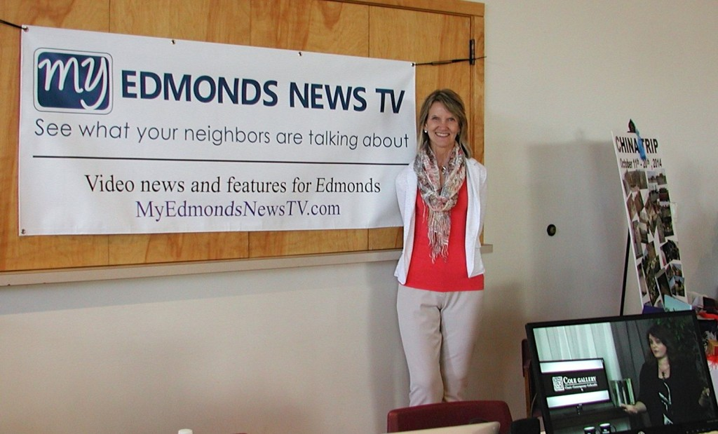 My Edmonds News Publisher Teresa Wippel was at the expo to promote the launch of her new venture, MyEdmondsNewsTV.com