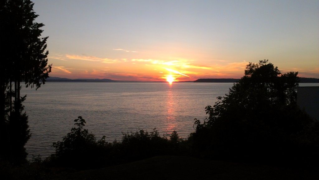 From Wayne Purser, the sun goes down on the first day of summer.