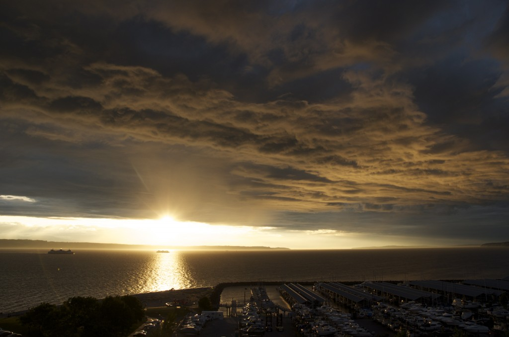 """From Julie Wiese, who captured Thursday evening's sunset. """"It was interesting how the clouds changed,"""" she said."""