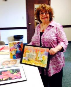 "Ruth Barth, the ""No Fear Art"" instructor."
