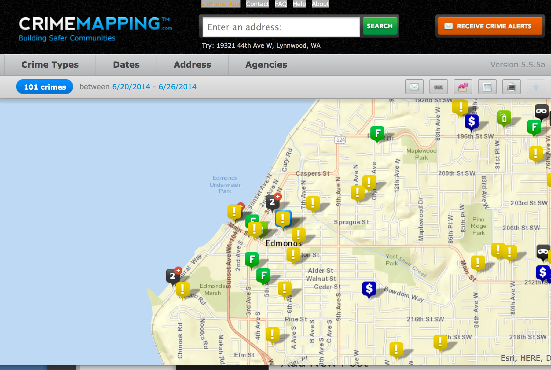 crime mapping graphic my edmonds news